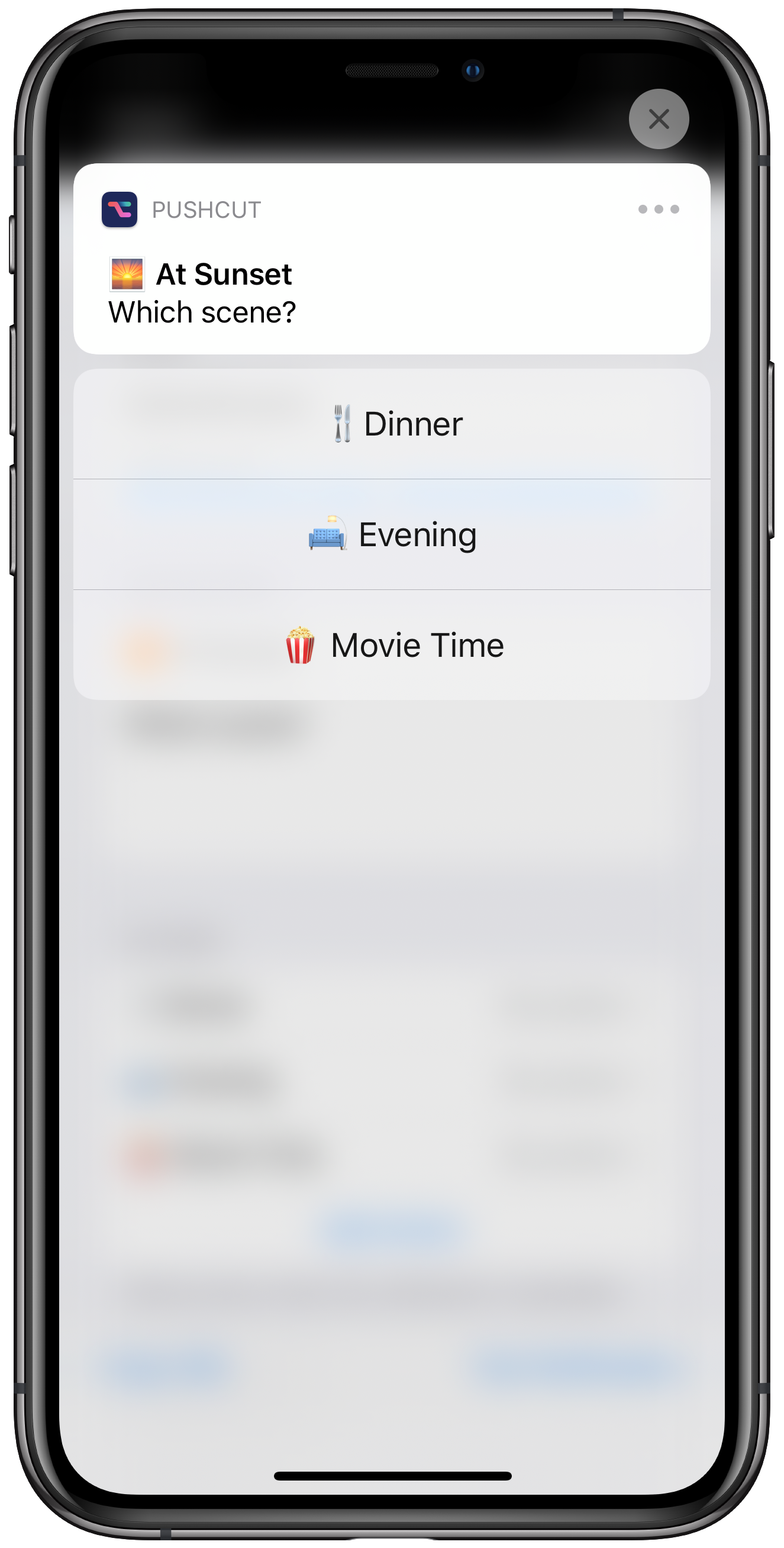 HomeKit notification for multiple scenes